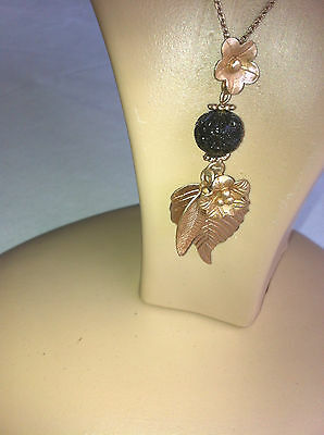 Wholesale Job Lot Of 5 Long Golden Chain Necklace With Flower & Leaf Pendent