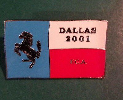 FERRARI Club of America 2001 Dallas Annual Meet Lapel Pin
