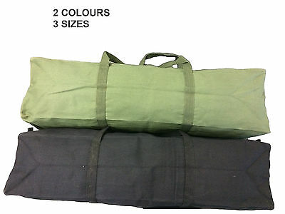 New Heavy Duty Canvas Tool Carry Bag Travel Luggage Duffel Duffle Tote Zip Biker