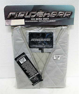 New FieldSheer Ice Berg Iceberg Motorcycle Quilted Cooling Vest Mens Large NISB