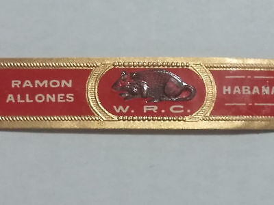 1950's Cigar Band Ramon Allones Habana Cuba Tobacco Ring Firm W.r.c