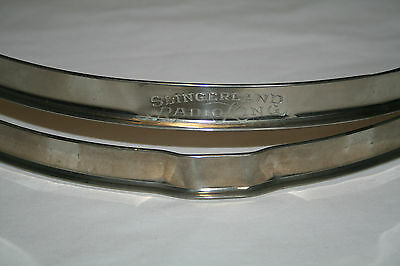 "Slingerland Radio King 14"" Single Flanged Hoops/Rims NOB Pair. Rare Beauties!"