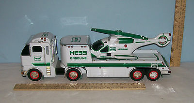 HESS GASOLINE Toy TRUCK with HELICOPTER - (c) 2006 HESS CORPORATION  md