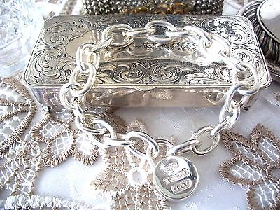 """Stunning  Sterling Silver Bracelet  ~  Weight 32 Grams  ~  Marked """" T & Co """" 925"""