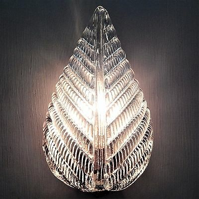 Barovier & Toso Leaf Wall Sconce Light Italian Vintage Murano Glass 1950's Lamp