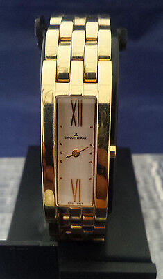 Jacques Lemans 1-1028 Gold-Tone Ladies / Women's Bracelet Watch = Great Gift!