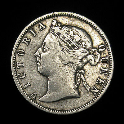 1899 Straits Settlements 20 Cents silver 204,000 minted