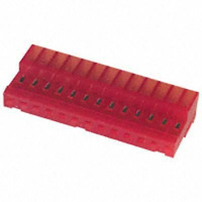 (CS-020) 4-640440-3 MTA100 13 Position Connector Receptacle 22AWG Red