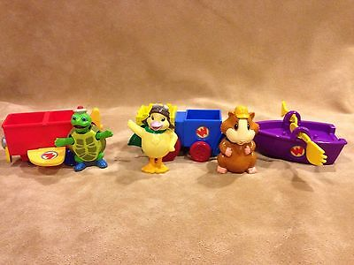 Wonder Pets Pull Go Rowboat Train Plane Bobble Head Figures EUC