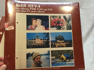 LOT OF 2 Holson 35FV-4  Refill Pages 48 Photo Album Memo Binder  HOLDS POLAROIDS