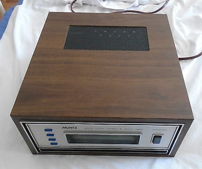 Vintage 1960's?? Muntz  8 track Tape Deck Player MODEL MD-5 #10573 AS FOUND