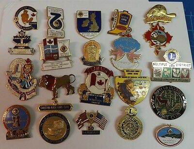 Lions Club Pins. 75+ Pins in Great Condition. Great Start to Your Collection.