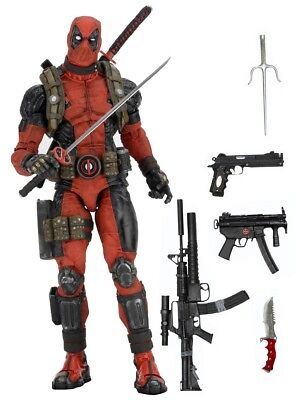 NECA Marvel Comics - DEADPOOL 1/4 Scale Actionfigur 45cm