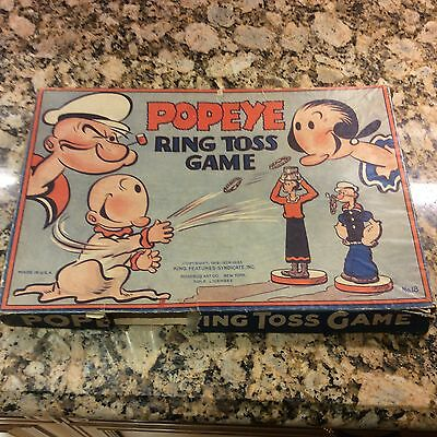 Popeye Ring Toss Game 1930s Rare Piece