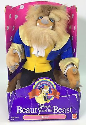 Disney's Beauty and the Beast Plush BEAST #1976 by Mattel 1992 NRFB