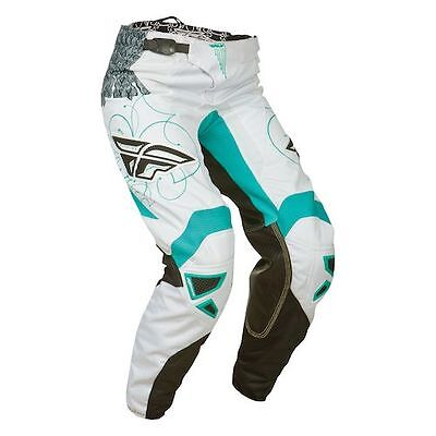 Fly Racing Kinetic Ladies Race Pant Teal/White