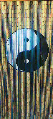 Deluxe Handmade Bamboo Door Curtain YIN YANG Room Divider New Eco Strands