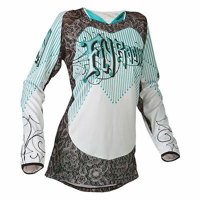 Fly Racing Kinetic Ladies Jersey Teal/White