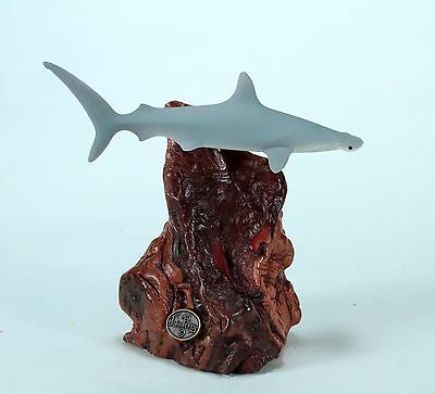 HAMMERHEAD SHARK Sculpture New direct from JOHN PERRY 7in tall Statue Airbrushed