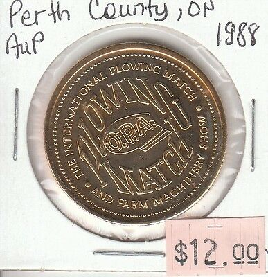 Perth County Ontario Canada - Trade Dollar - 1988 Gold Plated