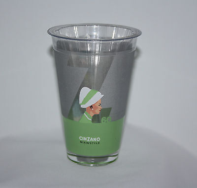 Cinzano Mixin Style Collectible Frosted Glass Tumblers Barware NEW