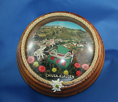 Vintage North Italy Edelweiss Alps Chiusa Klausen Hiking Wood Wall Plaque 3D