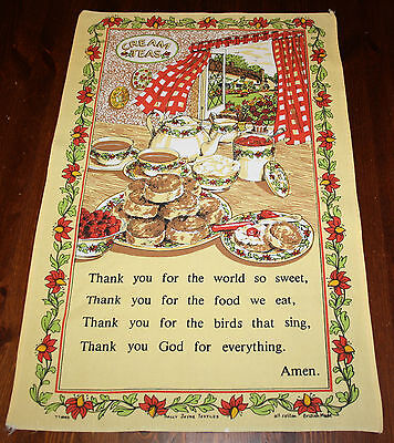 Cream Teas Dish Tea Towel Sally Jayne Made Britain