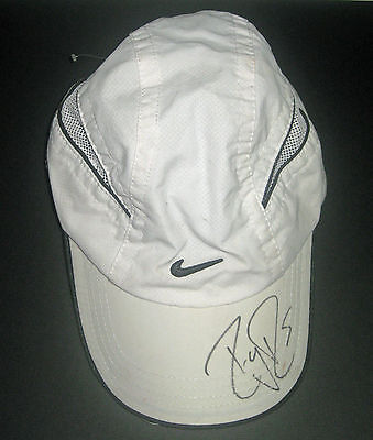 Roger Federer Signed Tennis Cap - Company Certificate Of Authenticity