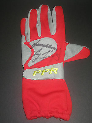 Whincup & Lowndes Signed Red Race Glove B V8 Supercars - Coa + Photo Proof