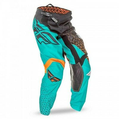 Fly Kinetic Youth Pant Blk/Teal/Org 'Trifecta'