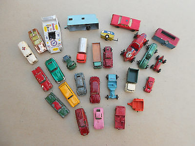 Vintage Die Cast Cars (Lot of 27) By Tootsietoy, Lesney, Aurora, schuco, Unknown