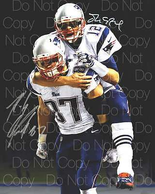 Tom Brady Rob Gronkowski signed Patriots 8X10 photo picture poster autograph RP