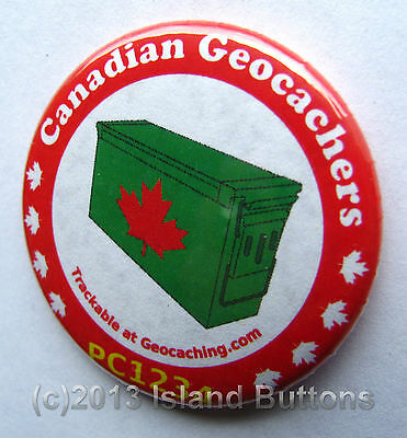 Canadian Geocachers Ammo Can Trackable Button