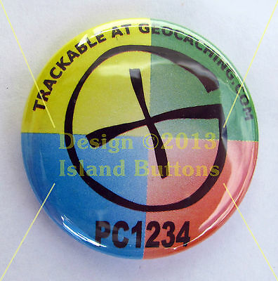 """Geocaching """"G"""" Trackable Button"""