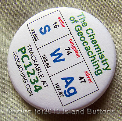 Geocaching Chemistry: SWAg Trackable Keyring (unactivated + icon)