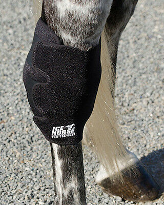 NEW Ice Horse Hock Boots - Ice Boot Therapy Wrap w/2 Cold Inserts