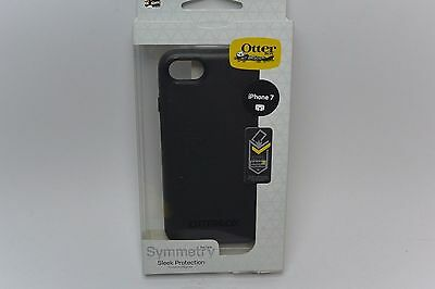 Authentic NEW BLACK OtterBox Symmetry Series Case For iPhone 7 In Retail Box