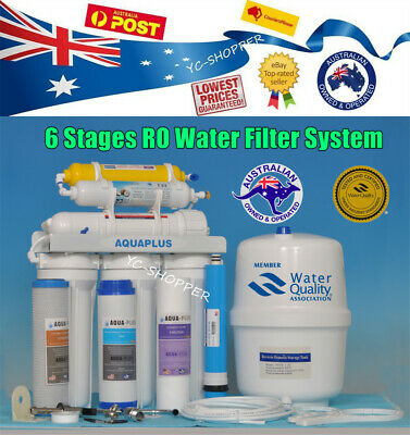 6 Stages RO Reverse Osmosis Water Filter Fluoride Removal + Fittings + Filters
