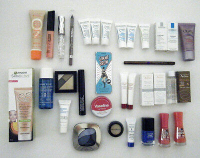 33 Piece Mixed Lot Makeup & Cosmetic Products ~ L'oreal/shiseido/bourjois & More