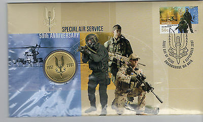 Australia 2007 Special Air Services Sas Fdc/Pnc Limited Edition $1 Unaddressed