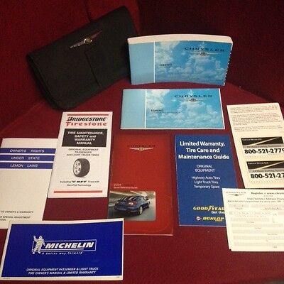 2009 Chrysler Sebring Owners Manual set with warranty guide and case