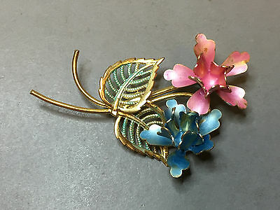 Antique Vintage Russian Brooch Flowers