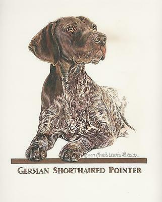 German Shorthaired Pointer Liver/White Original Art by Chris Lewis Brown - #560