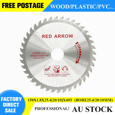 "TCT 150mm(6"")X30(25.4/20/16mm)X40T CIRCULAR SAW BLADE FITS MAKITA BSS611 durable"