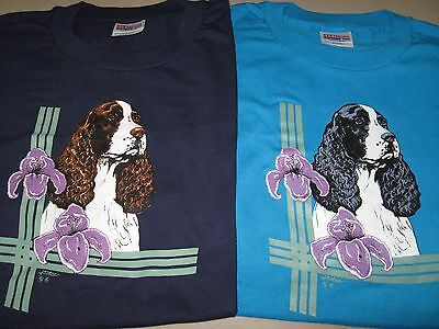 English Springer Tee Shirt - Size XL - Brand New - Choose your color!