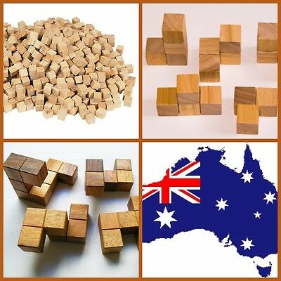 Cubes 1cm Wood (250) for Building, Counting and 3D Shapes