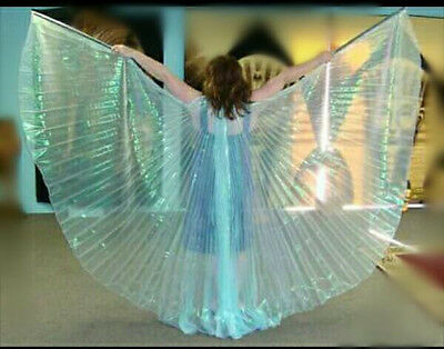 isis wings, bauctanz isis scleier , belly dance isis wings light turquoies wings