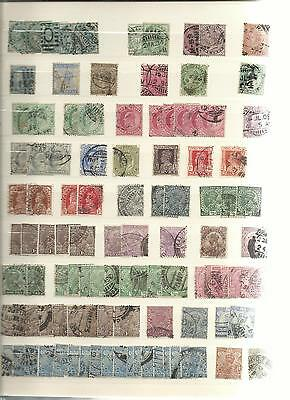 Collection lot de timbres ancien Inde India