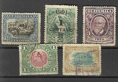 Lot de timbres ancien Guatemala