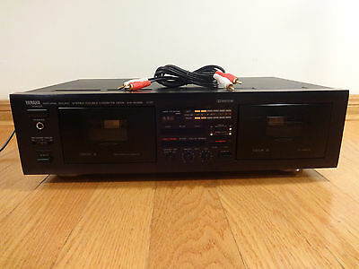 Yamaha KX-W262 Natural Sound Dual Cassette Deck Auto-Reverse Japan TESTED 100%